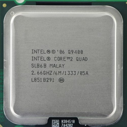 سی پی یو دست دوم Intel® Core™2 Quad Processor Q9400 (6M Cache, 2.66 GHz, 1333 MHz FSB)