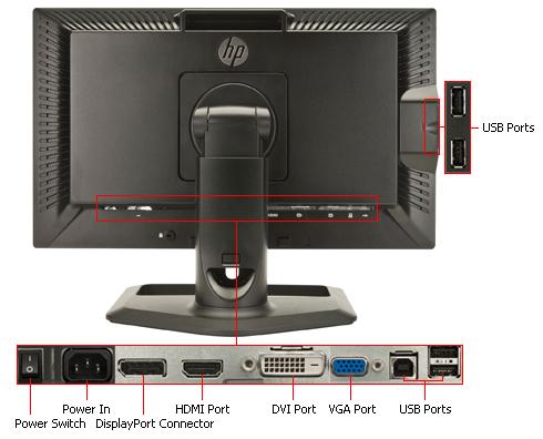 مانیتور دست دوم استوک 22 اینچ مدل HP ZR2240w